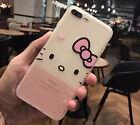 Nueva Móvil Funda de silicona suave Transparente diseño de Hello Kitty cute case