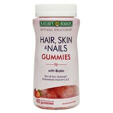 80 Hair Skin Nails Gummies With Biotin Natures Bounty Vitamins C E Antioxidants
