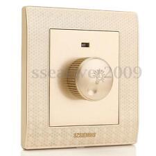220V Adjustable Controller LED Dimmer Switch For Dimmable Light Bulb Lamp Golden