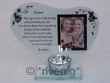 SISTER PICTURE FRAME CANDLE Holder@SPECIAL SIS@SIBLING PHOTOGRAPH KEEPSAKE GIFT