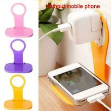 Cell Phone Wall Charger Adapter Holder Hanging Stand Bracket Hook Foldable A9C6