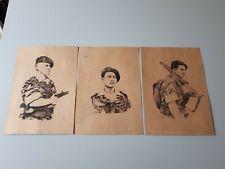 3 affiches : soldats Parachutistes Français en Indochine