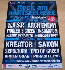 Rock am Härtsfeldsee  2014 - Promotion Flyer - Kreator, Saxon, Sepultura