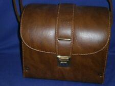 Medium Hard Camera Case 10x8½x7 inch w/Shoulder Strap Faux Leather