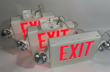 Lithonia Lighting 2 Ceiling 1 Wall Mounted Lighted Exit Signs Withemergency Lights