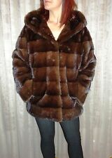 Brand New brown mink jacket with hoodie , top quality all sizes available.