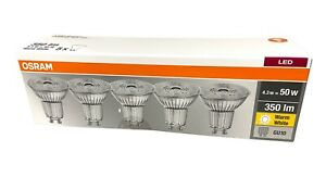 5er Pack Osram LED GU10 Spot Strahler 4,3W wie 50W Warmweiß 2700K nicht Dimmbar
