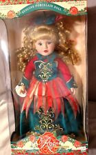 Victorian Rose Genuine Porcelain Girl Doll By Melissa Jane 1998 NEVER OUT OF BOX