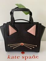 🎁 KATE SPADE Jazz Things Up Mini Hayden Black Cat Leather Crossbody