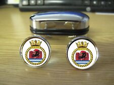 HMS SULTAN CUFFLINKS (IMAGE BLURRED TO PREVENT WEB THEFT)