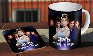 Buffy The Vampire Slayer - Ceramic Coffee / Tea Mug + Matching Coaster