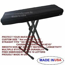 Roland BK5 DIGITAL PIANO KEYBOARD CUSTOM FIT DUST COVER + EMBROIDERY !