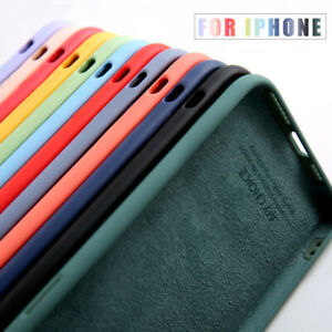For iPhone 12 Pro Max 11 XR X 8 Plus Shockproof Liquid Silicone Soft Case Cover