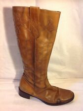 Principles Brown Knee High Leather Boots Size 39