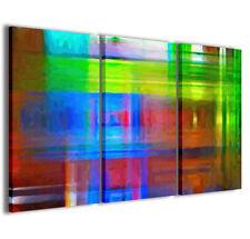 Stampe su tela 3pz.120x90cm Abstract Painting 003 Quadri Moderni Astratti Quadro