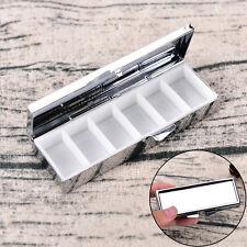 Mini Travel Metal Pill Box Medicine Drug Vitamin Tablet Organizer ContainerCase&