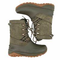 The North Face Yukiona Mid Boots Tarmac Green Womens Size 9