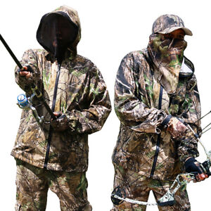 3D Bionic Camouflage Ghillie Suit Anti-mosquito Scratch f Hunting Autumn Spring