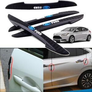 4pcs For Ford Focus Car Door Edge Bumper Anti-Collision Guard Strip Protector