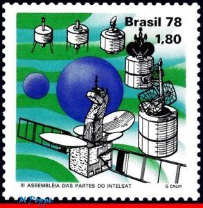1576 BRAZIL 1978 INTELSAT SATELITE, SPACE EXPLORATION, MI# 1670 RHM C-1054, MNH