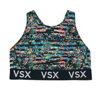 VICTORIAS SECRET VSX The Player Racerback Sport Bra Large Striped Multicolored