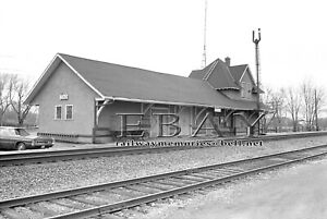 "CNR station  Emo, Ont. April 1977 High quality B&W 8"" x10"" print"