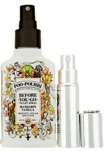 POO-POURRI Before You Go Toilet Spray 4 oz Mandarin Van w/or wo/ Glitzy Spritz