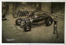 KEITH WEESNER POSTER PRINT 1934 FORD VTG HOT ROD COUPE FLATHEAD PINUP 33 HARLEY