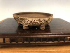 "Mame Or Shohin Size Bonsai Tree Pot By Chazan (deceased) 2 3/4"""