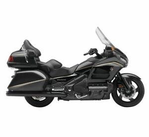 "Cobra 4"" Slip On Motorcycle Exhaust Black 1219B Honda GL1800 Goldwing"
