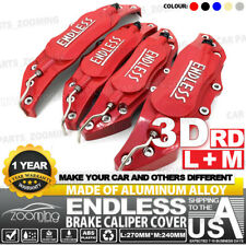 "Metal 3D ENDLESS Universal Style Brake Caliper Cover 4pcs Red 10.5"" LW04"