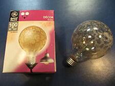 Rarität Decor General Electric Globelampe E27 100w G95 Krokoeis Gold Glühlampe