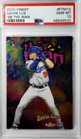 GAVIN LUX - 2020 Topps Finest The Man Rookie PSA 10 Gem Mint - Dodgers RC POP 2