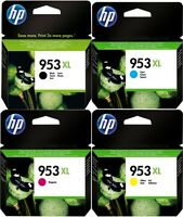 4 Cartuchos de tinta HP 953XL Original Cian, Magenta, Amarillo Y Negro