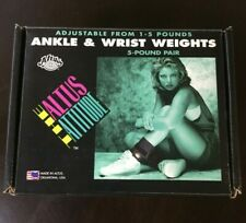 Vintage Atlus Attitude Adjustable Ankle or Wrist Weights 1-5 Lb Pair New In Box!