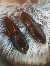 Next black Patent Flat Loafers Size 7