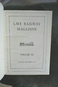 antique LMS Railway Staff Magazine the Hardback volume for 1926 RARE