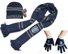 Harry Potter Ravenclaw Thicken Knit Warm Scarf +Cap/Hat + Gloves Costume Gift