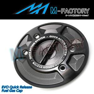 Black Quick Lock Fuel Gas Cap EDO Fit BMW R1200R S1000RR F650GS F800R