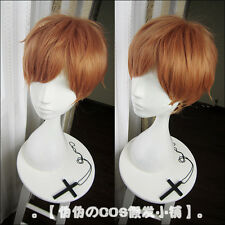 The Seven Deadly Sins King Cosplay Costume Party Hair Brown Wig + Free Wig Cap