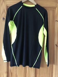 XL  Mens Compression Base Layer Top Long Sleeve Thermal Sports Shirt Black