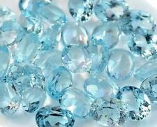 Natural sky blue topaz oval faceted gemstone 7 mm x 9 mm free shipping