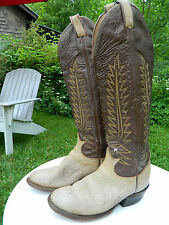 1970's Tony Lama Western Boots / Us Woman size: 5 1/2 C / Made in the Usa / Used