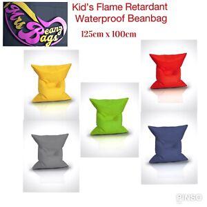 MrsBeanzBags® Kids XL Bean Bag 100cmx125cm waterproof -flame retardant 5 colours