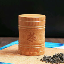 Bamboo Portable Travel Sealed Tea Spice Storage Box With Chinese Tea Character