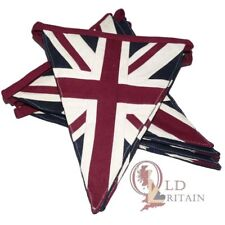 British Union Jack Bunting | 4 Meters long | 9 Flags | Celebration | Traditional