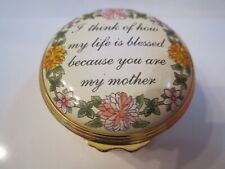 "Halcyon Days England Enamel Trinket Box - ""Mother'S Day"" Theme"