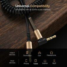 PW_ KE_ KQ_ 1PC Stretchable Right Angle Male to Male Headphone Jack Audio Cabl