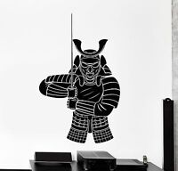 Wall Vinyl Decal Samurai Warrior Japane Japanese Soldier With Sword Home Interio
