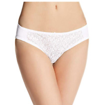 Carnival Womens Petite-Plus-Size Tuxedo Lace Center low-rise panty, White